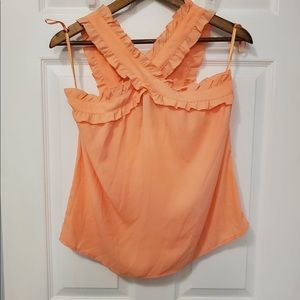 NWT J crew size 0 cross front sleeveless blouse